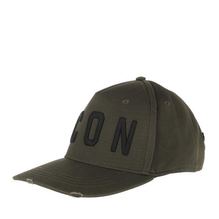 Dsquared2  Caps  -  Icon Baseball Cap Military/Black  - in grün  -  Caps für Damen grau