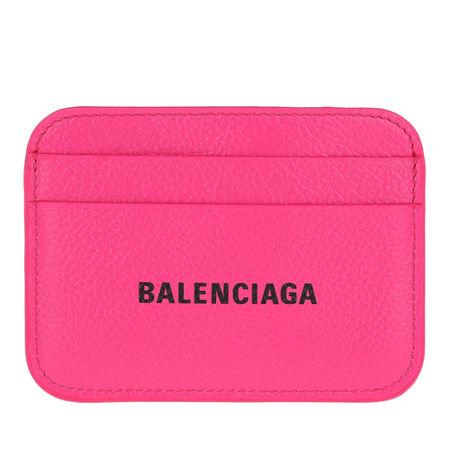 Balenciaga  Portemonnaie  -  Logo Card Holder Acid Fuchsia/Black  - in pink  -  Portemonnaie für Damen pink