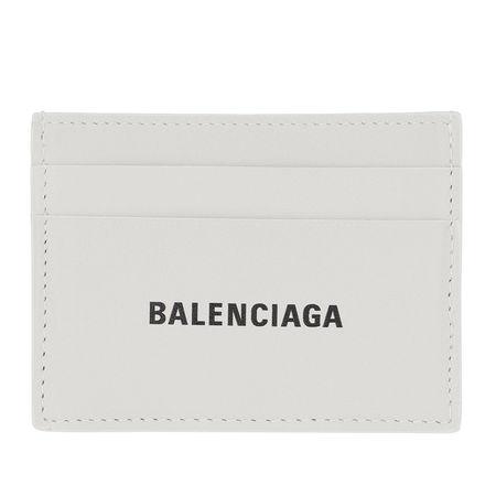 Balenciaga  Portemonnaie  -  Credit Card Holder Leather White/Black  - in weiß  -  Portemonnaie für Damen grau