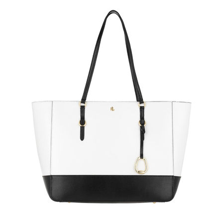 Lauren Ralph Lauren  Shopper  -  Medium Tote Bag Optic White/Black  - in weiß  -  Shopper für Damen weiss