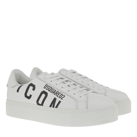 Dsquared2  Sneakers  -  Icon Sneaker Leather White/Black  - in weiß  -  Sneakers für Damen braun