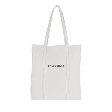 Balenciaga  Tote  -  Everyday XS Tote Bag Leather White/Black  - in weiß  -  Tote für Damen grau