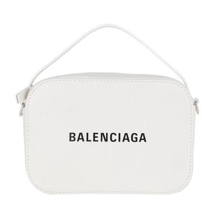 Balenciaga  Umhängetasche  -  Everyday Camera Bag Leather White/Black  - in weiß  -  Umhängetasche für Damen grau