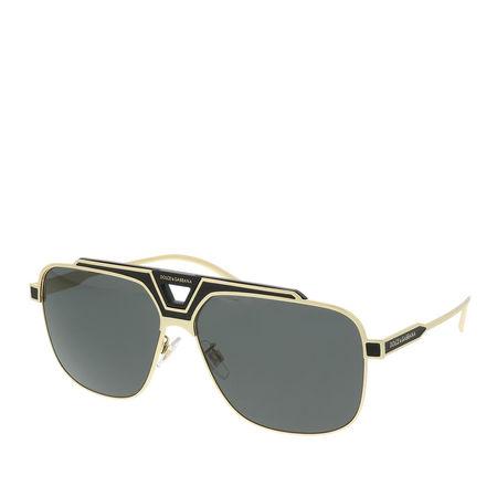 Dolce&Gabbana  Sonnenbrille  -  0DG2256 133487 Man Sunglasses Origin Gold/Black Matte  - in schwarz  -  Sonnenbrille für Damen grau