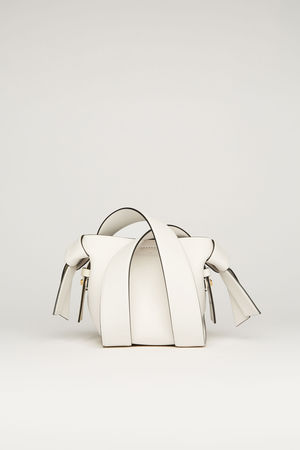 Acne Studios  Musubi Micro White/black  Small leather bag