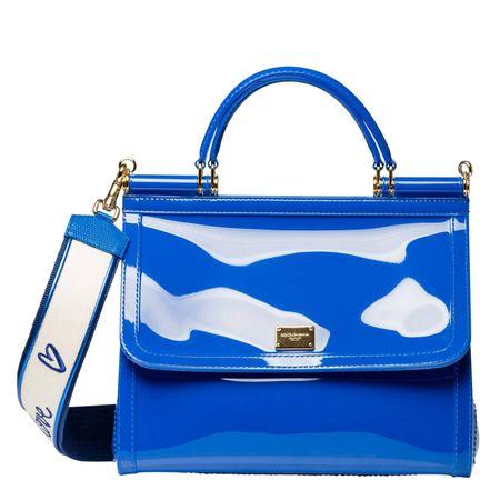 Dolce&Gabbana Dolce & Gabbana® - Handtasche aus Leder in Royalblau/Blau für Damen, Größe UNI blau