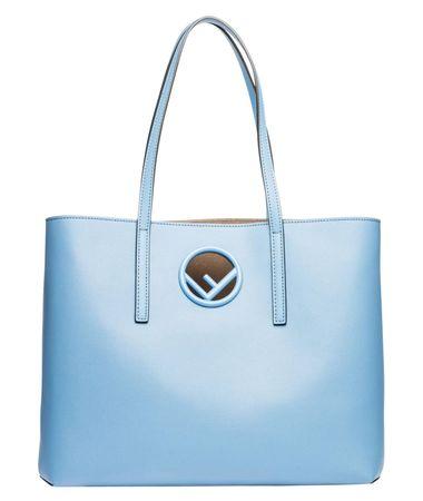 Fendi ® - Handtasche aus Leder in Hellblau/Blau für Damen, Größe UNI blau