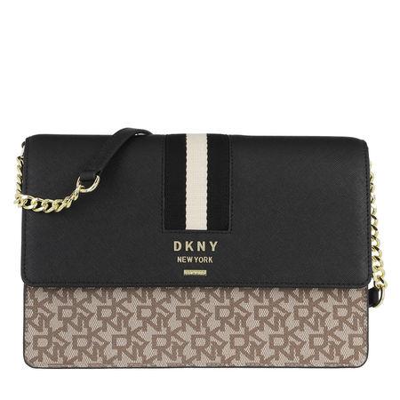 DKNY  Umhängetasche - Liza Medium Shoulder Flap Chino/Blk - in schwarz - für Damen