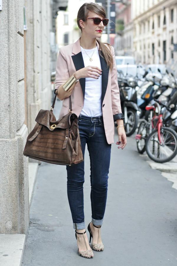 Outfit mit Blazer