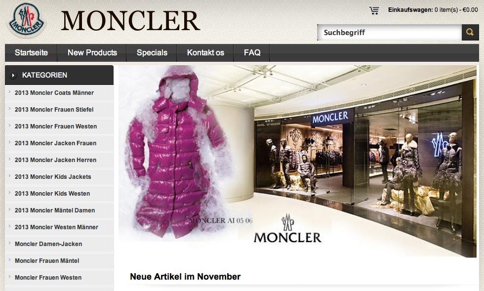 moncler fake shop