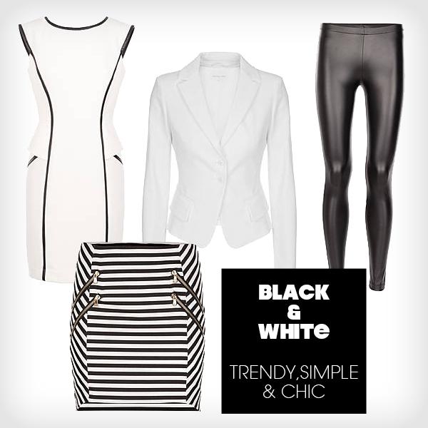 black+white trend