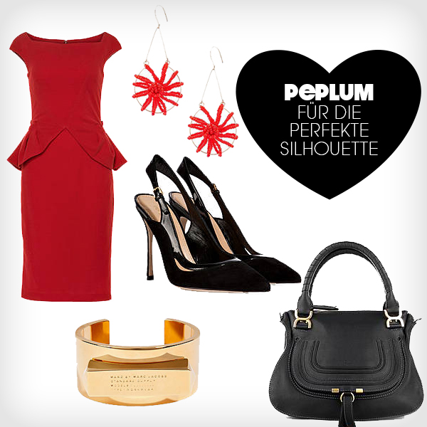 peplum-kleid outfit