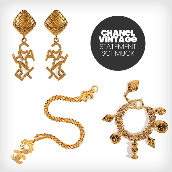 schmuck im rihanna style von chanel vintage jewelry. Black Bedroom Furniture Sets. Home Design Ideas