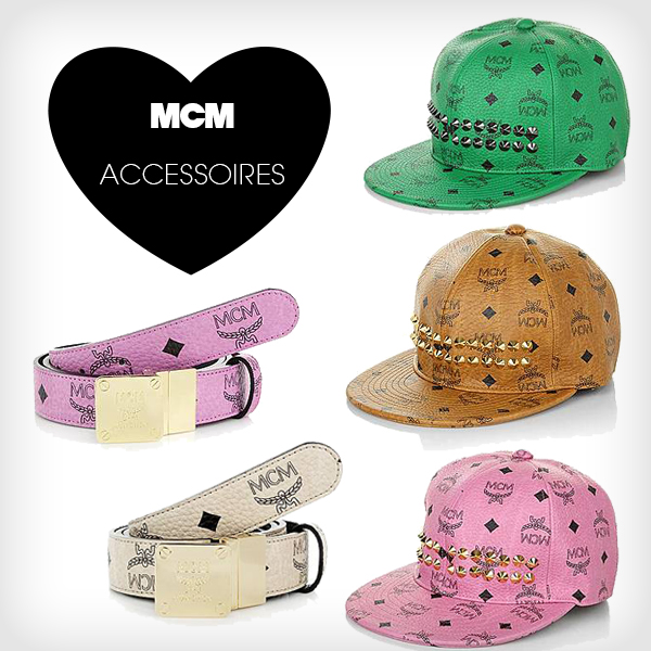 Designermode MCM Accessoires Caps Gürtel