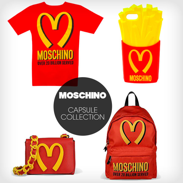moschino fast food capsule collection