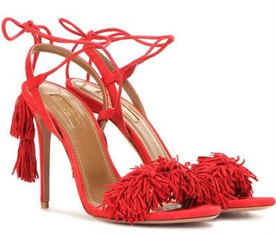 Rote Sandalen von Aquazzura