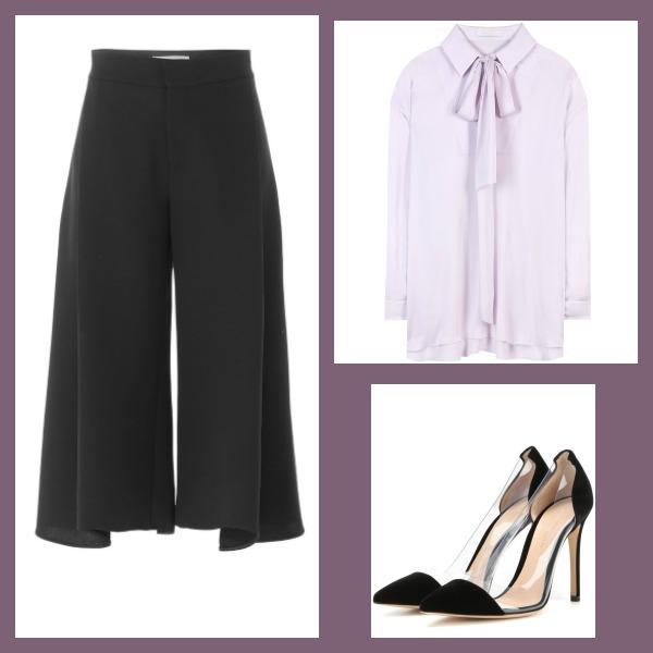 Büro Outfit mit Culotte