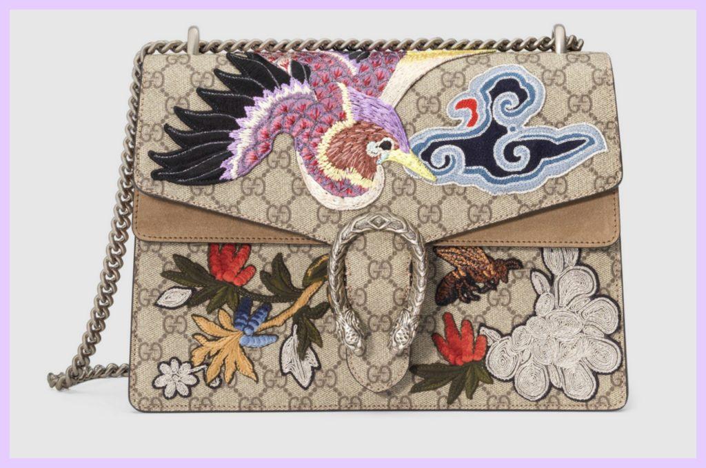 Dionysus mit Vogel und Blumen