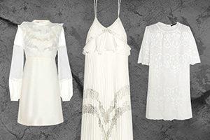 All White auf Stone Kleider