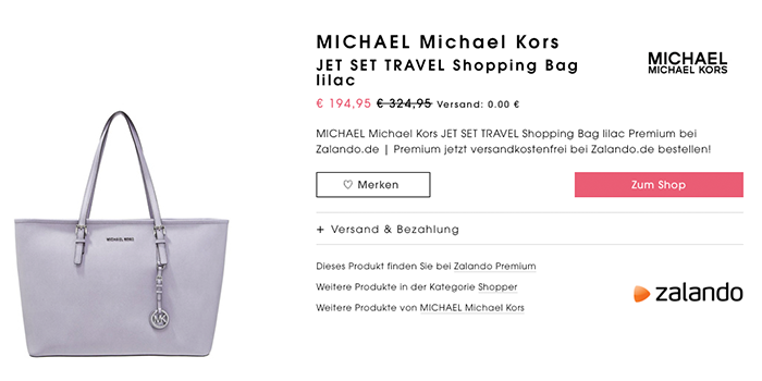 Michael Kors Jet Set Lila