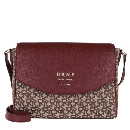 DKNY  Umhängetasche  -  Noho Flap Messenger Caramel Logo/Blood Red  - in bunt  -  Umhängetasche für Damen braun