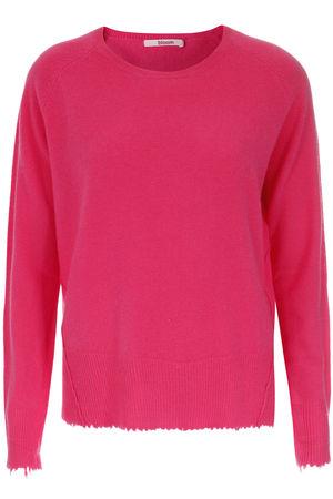 bloom  Cashmere-Pullover mit Destroyed-Detail Damen Farbe: pink verfügbare Größe: 34|36|38|40|42 pink