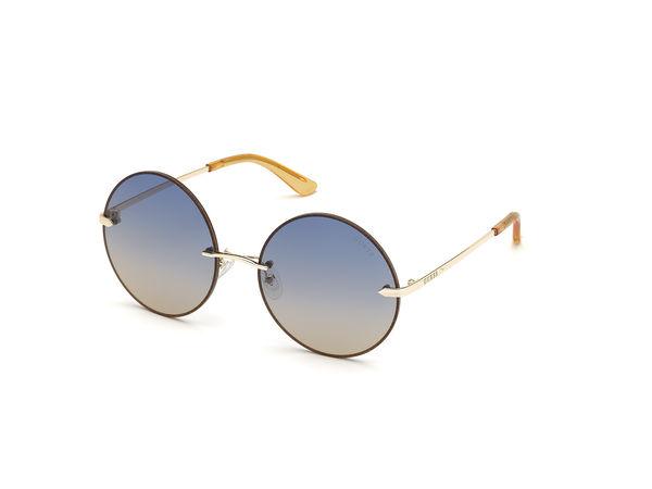 Guess  Sonnenbrille  -  Women Sunglasses Metal GU7643 Gold/Blue  - in gold  -  Sonnenbrille für Damen grau