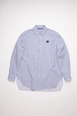 Acne Studios  FA-UX-SHIR000015 White/blue  Striped shirt grau
