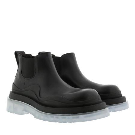 Bottega Veneta  Boots & Stiefeletten - Tire Ankle Boot Vegetal Calfskin - in schwarz - für Damen schwarz