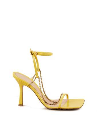 Bottega Veneta  - Sandaletten mit Kettendetail Gelb gruen