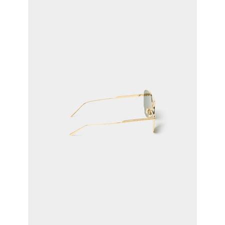 Bottega Veneta Unisex Sonnenbrille im Piloten-Stil grau