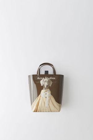 Acne Studios  Baker AP S Beige/Braun  Kleine Tasche im Tote-Stil grau