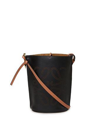 Loewe  - Handtasche 'Gate Bucket Anagram' Schwarz/Braun schwarz