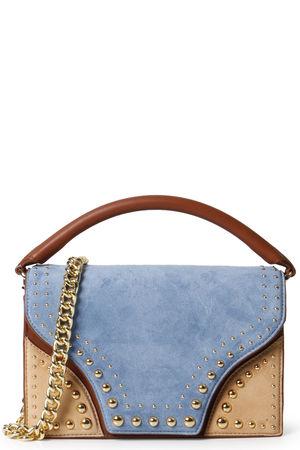 Diane von Furstenberg  Ledertasche mit Nietenbesatz Oxford Multi Damen Farbe: blau/braun verfügbare Größe: One Size grau