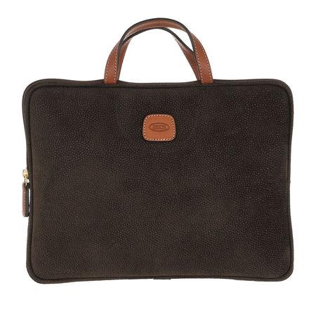 Bric's  Laptoptaschen - Life Laptop Bag - in grün - für Damen grau