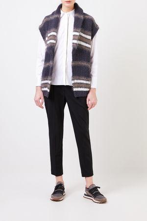 Brunello Cucinelli  - Baumwoll-Bluse mit Perlenverzierung Weiß