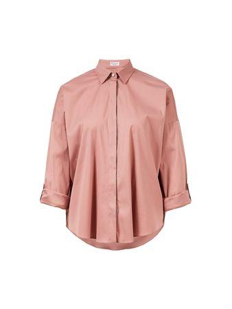Brunello Cucinelli  - Baumwoll-Bluse Pink rot