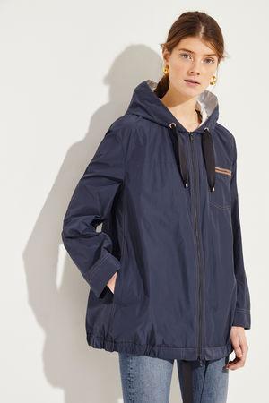 Brunello Cucinelli  - Baumwoll-Jacke mit Perlenverzierung Blau