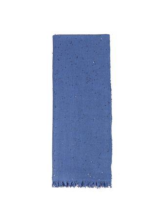 Brunello Cucinelli  - Cashmere-Seiden-Tuch mit Paillettendetails Blau