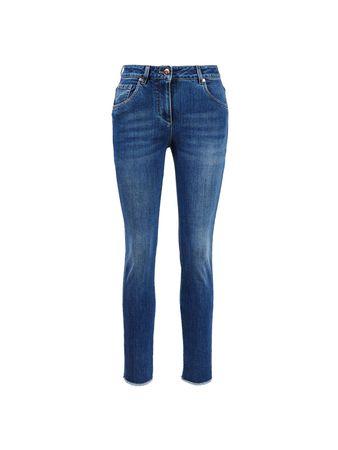Brunello Cucinelli  - Jeans mit ausgefranstem Saum Dunkelblau blau