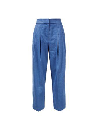 Brunello Cucinelli  - Leinen-Baumwoll Hose Blau blau