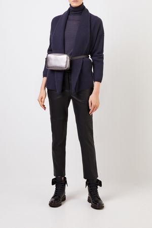 Brunello Cucinelli  - Rippstrick-Cashmere-Cardigan Blau 100% Cashmere Made in Italy