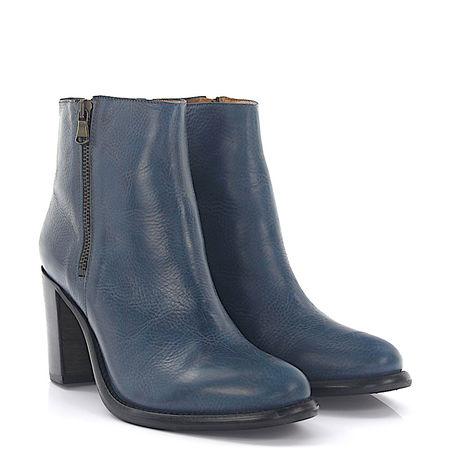 Budapester  Stiefeletten Boots 481 Leder blau grau