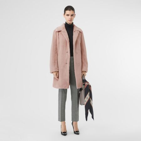 Burberry  Einreihiger Mantel aus Kunstpelz