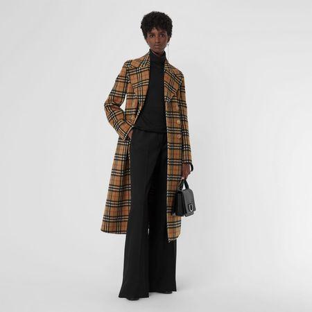 Burberry  Eleganter Mantel aus Alpakawolle mit Vintage Check-Muster