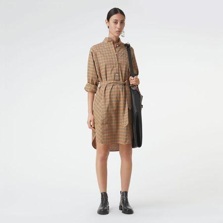 Burberry  Hemdkleid aus Baumwolle mit Karomuster und Bindegürtel