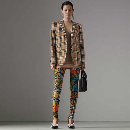Burberry  Jackett aus Wolle mit Vintage Check-Muster