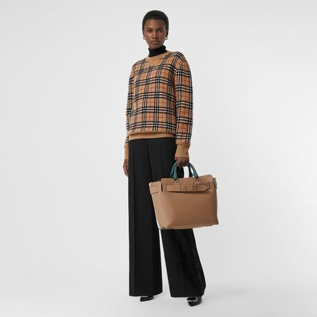 Burberry  Jacquard-Pullover aus Kaschmir mit Vintage Check-Muster