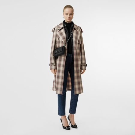 Burberry  Leichter Trenchcoat mit Karomuster