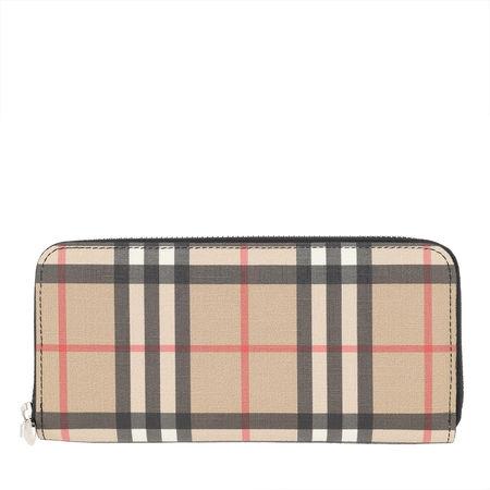 Burberry  Portemonnaie  -  Ellerby Wallet Black  - in beige  -  Portemonnaie für Damen braun